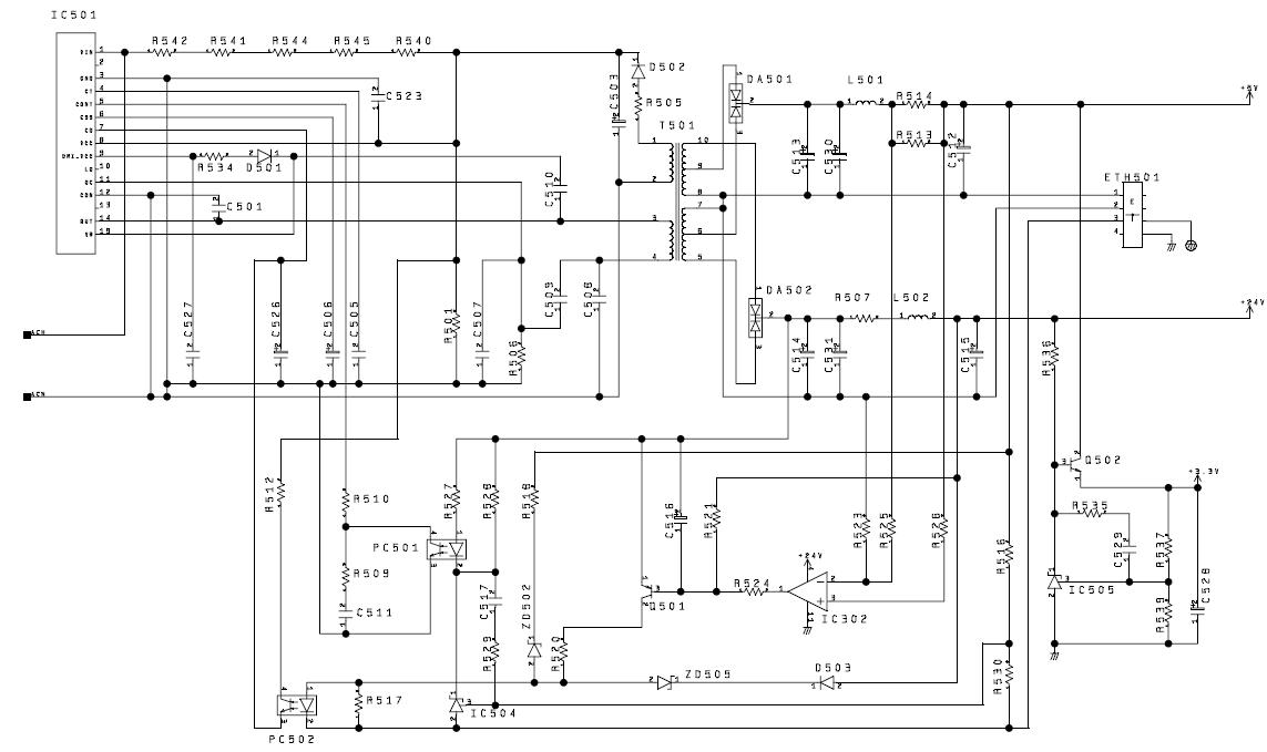Схема блока питания струйного принтера