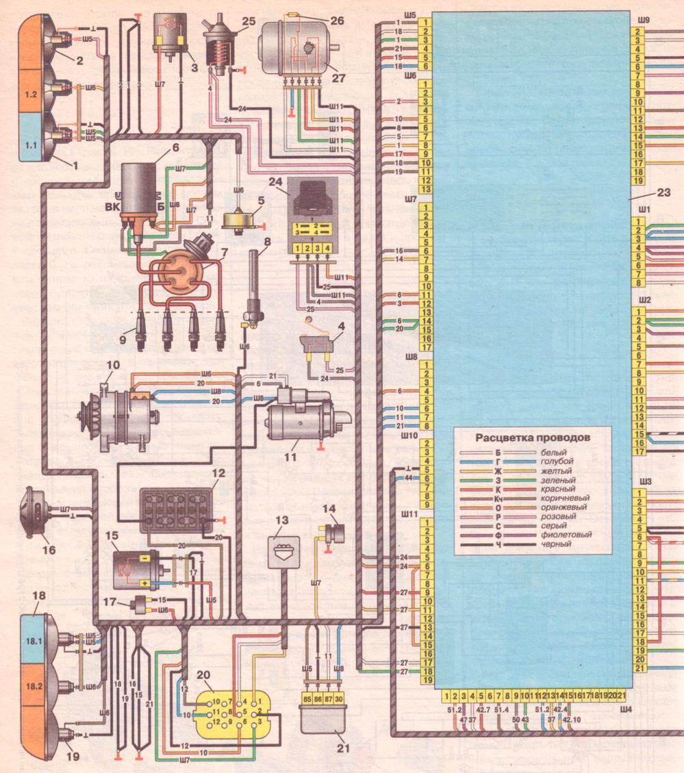 Схема электрооборудования иж 27175 инжектор 173