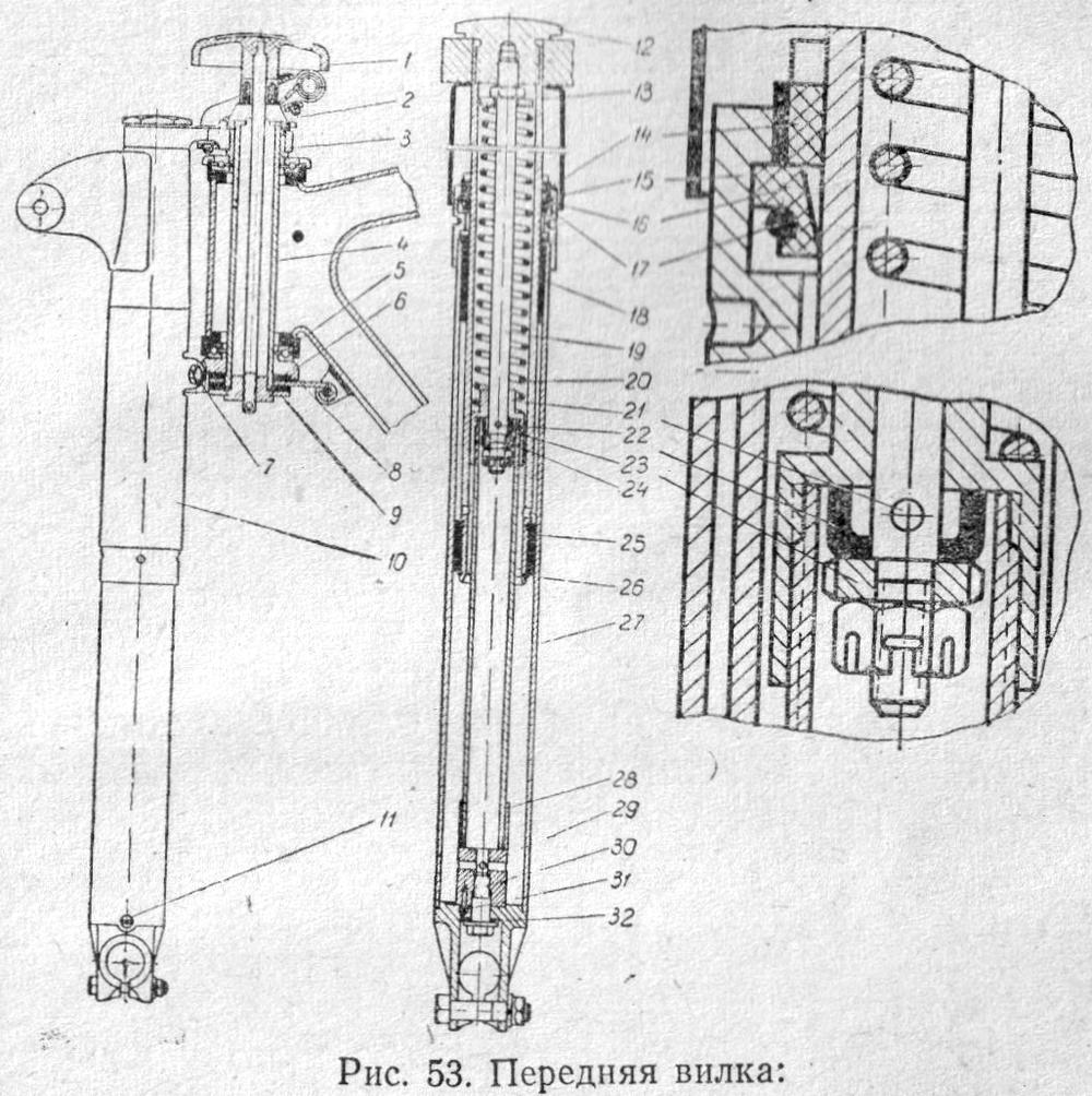 Детали задней подвески мотоциклов ИЖ-Планета -5, -4, -3 и ИЖ ... | 1004x1000